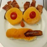 face made out of food