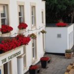 close up aerial shot of the salthouse pub