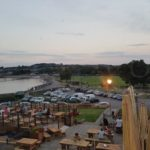 shot of the beer garden at the salthouse pub