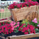 red and pink flowerbed at the salthouse
