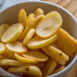 sliced fried potatoes
