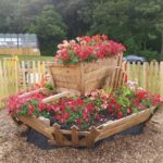 flower bed at the salthouse pub
