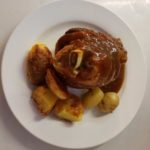 delicious roast joint with roast potatoes